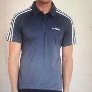 """ADIDAS"" Three Stripe Navy Men's T Shirt."